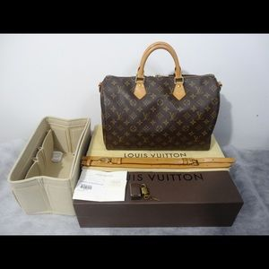 Authentic Louis Vuitton Speedy Bandouliere 35